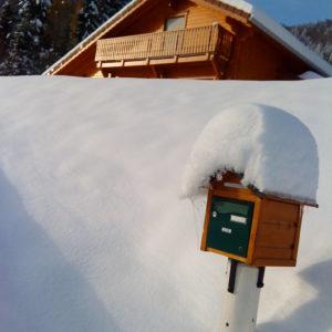 Le Chalet sous la neige dans les Vosges